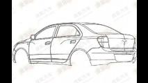 Chevrolet registra patentes do sedã Cobalt na China