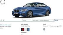 BMW 2-Series Coupe configurator 25.10.2013