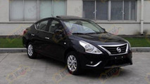Nissan Sunny / Versa facelift caught undisguised
