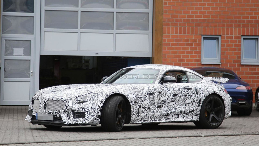 High-performance Mercedes AMG GT spied with less disguise