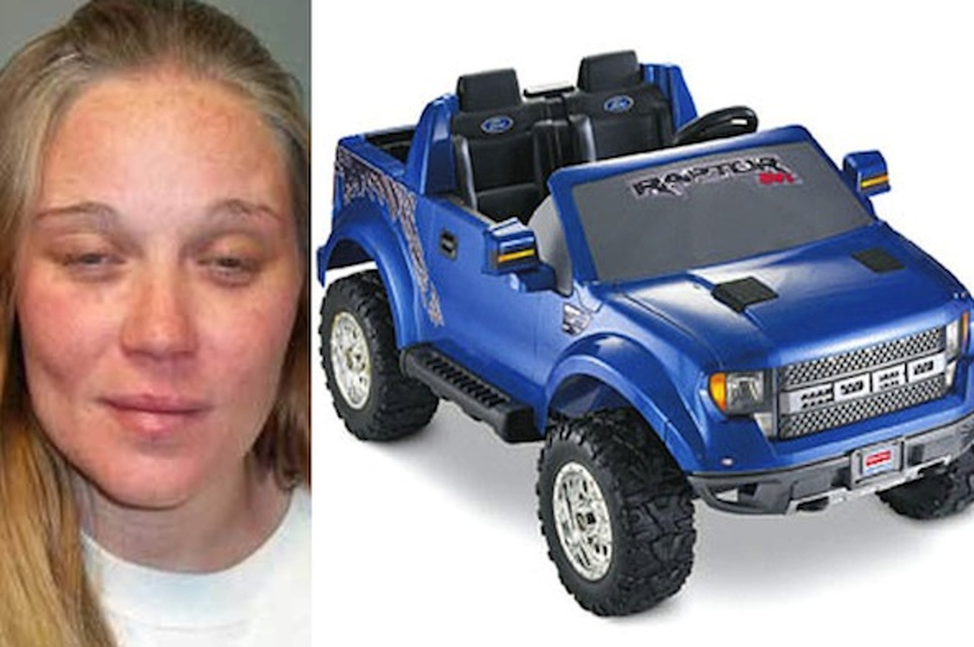 Pantless Drunk Woman Tried to Flee From Cops in a Power Wheels
