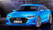 Audi A9 rendered as a Mercedes S-Class Coupe competitor