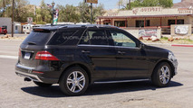 Mercedes M-Class facelift spied in Nevada