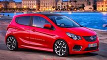 Opel Karl imagined in OPC guise