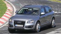 Audi Q6 chassis test-mule spied for first time