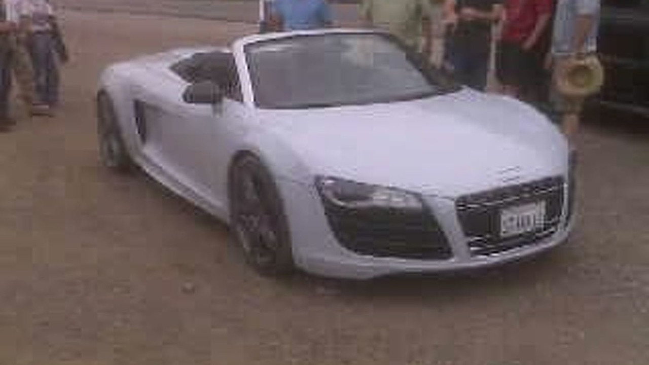 Audi R8 spider spy photo - low res