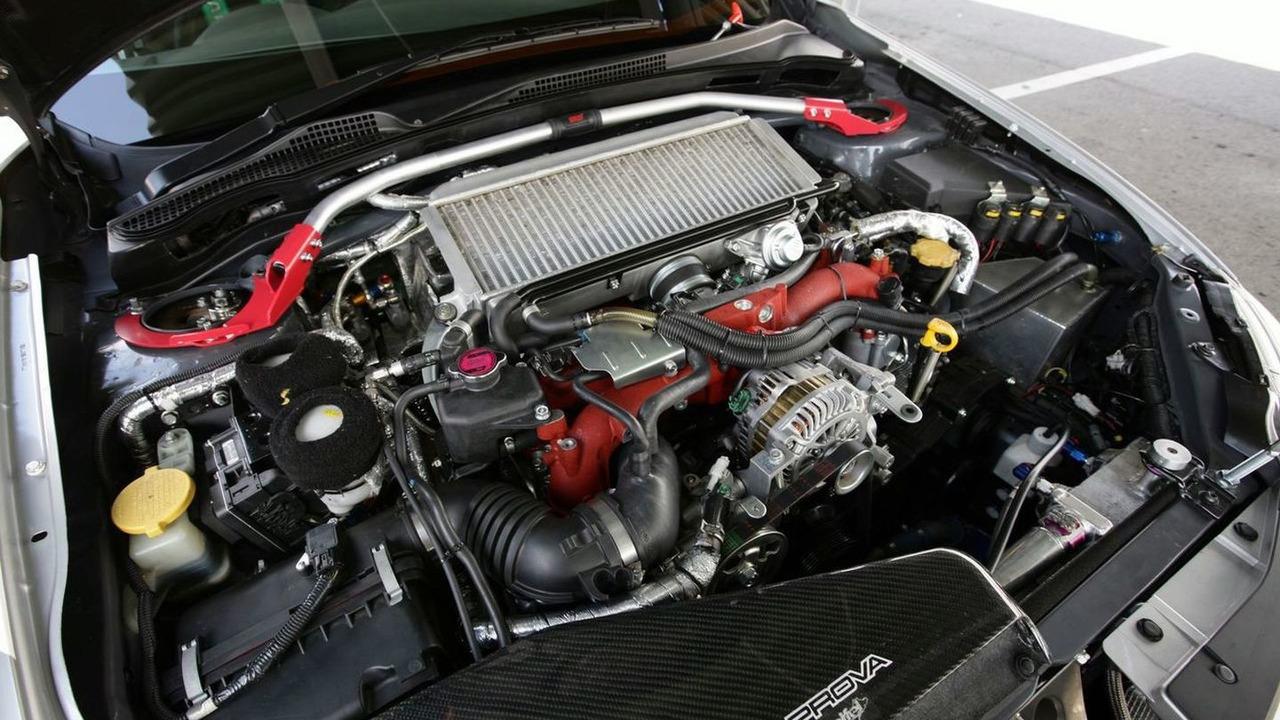 Technical engine detail of the Subaru Impreza STI, Nurburgring 24 Hours 2009
