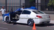 Peugeot 508 spied uncovered during photoshoot