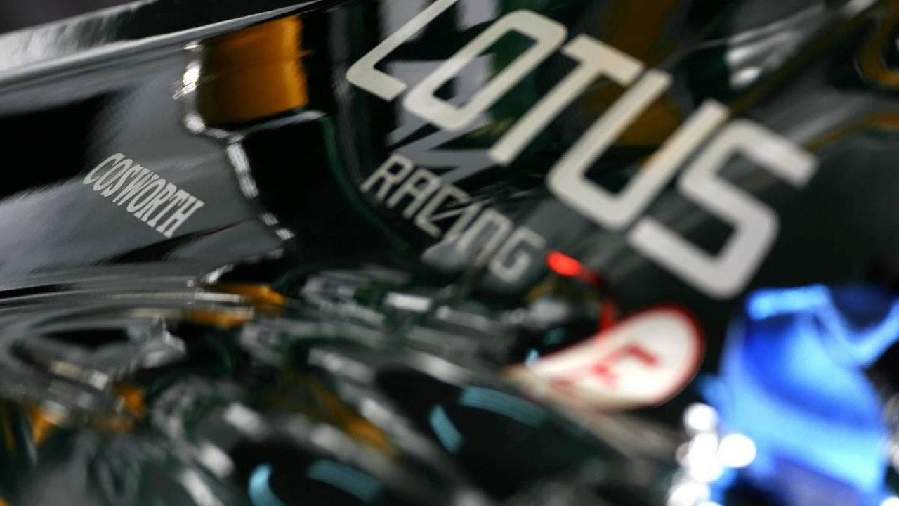 Cosworth logo in Lotus F1 Team engine cover - Formula 1 Testing, 26.02.2010 Barcelona, Spain
