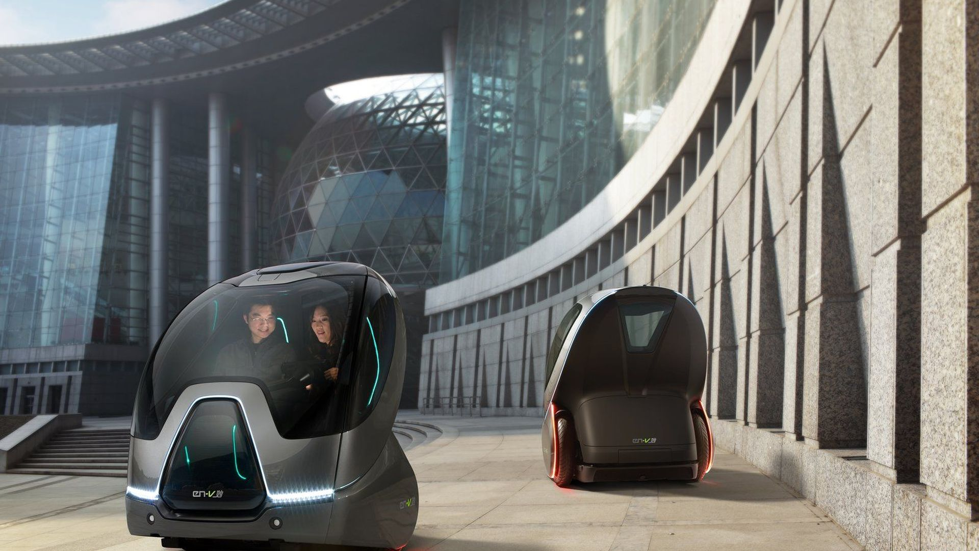 GM EN-V Concept Revealed in Shanghai- For Future Urban Mobility