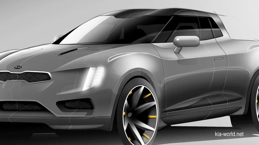 Alleged official render of Kia small pick-up truck concept surfaces
