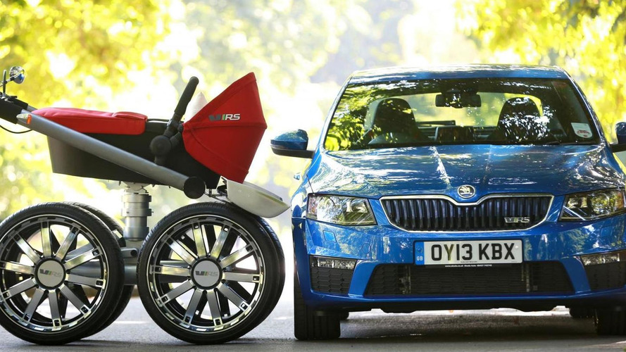 Skoda reveals vRS Mega Man-Pram baby carrier [videos]