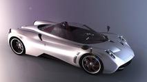 Pagani Huayra Roadster rendering