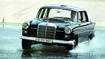 Mercedes 230 fintail 1965-68 on test track