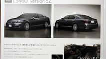2010 Lexus LS sedan brochure leaks showing mild updates