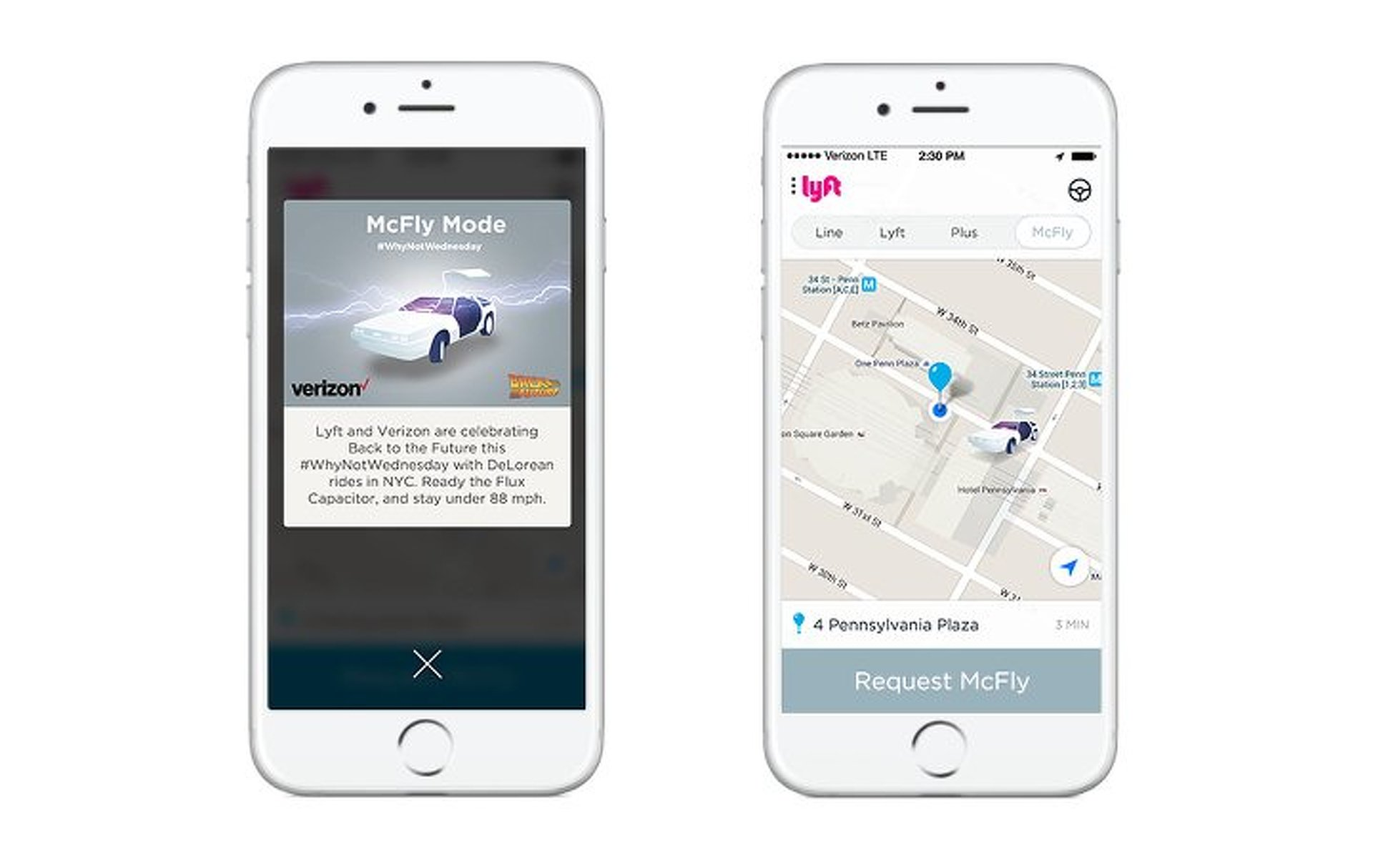 """Lyft Riders in NYC Can Go """"Back to the Future"""" in a Fleet of Deloreans"""