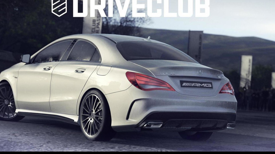 Mercedes-Benz CLA45 AMG partially revealed in Driveclub exclusive PlayStation 4 game