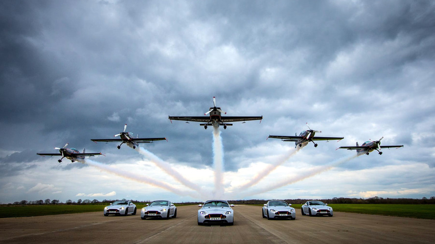 Aston Martin V8 Vantage S Blades Edition delivery includes aerobatic flight