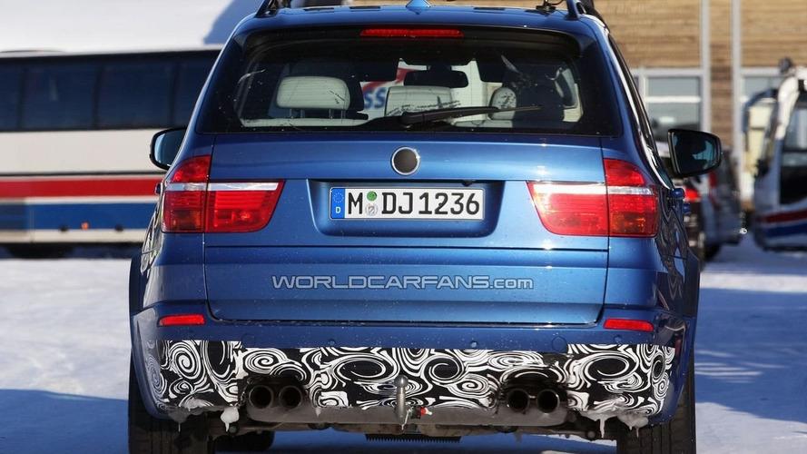 BMW X5 M Prototype Winter Testing in Blue