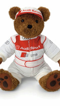 Motorsport teddy bear by Audi subsidiary Quattro GmbH