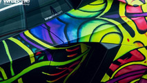 Lamborghini Aventador wrapped by WrapStyle looks psychedelic