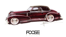Chip Foose is bringing life to a Cadillac sketch from 1935