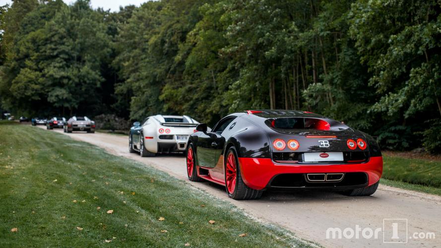 PHOTOS - Incroyable défilé de Bugatti Veyron à Chantilly!