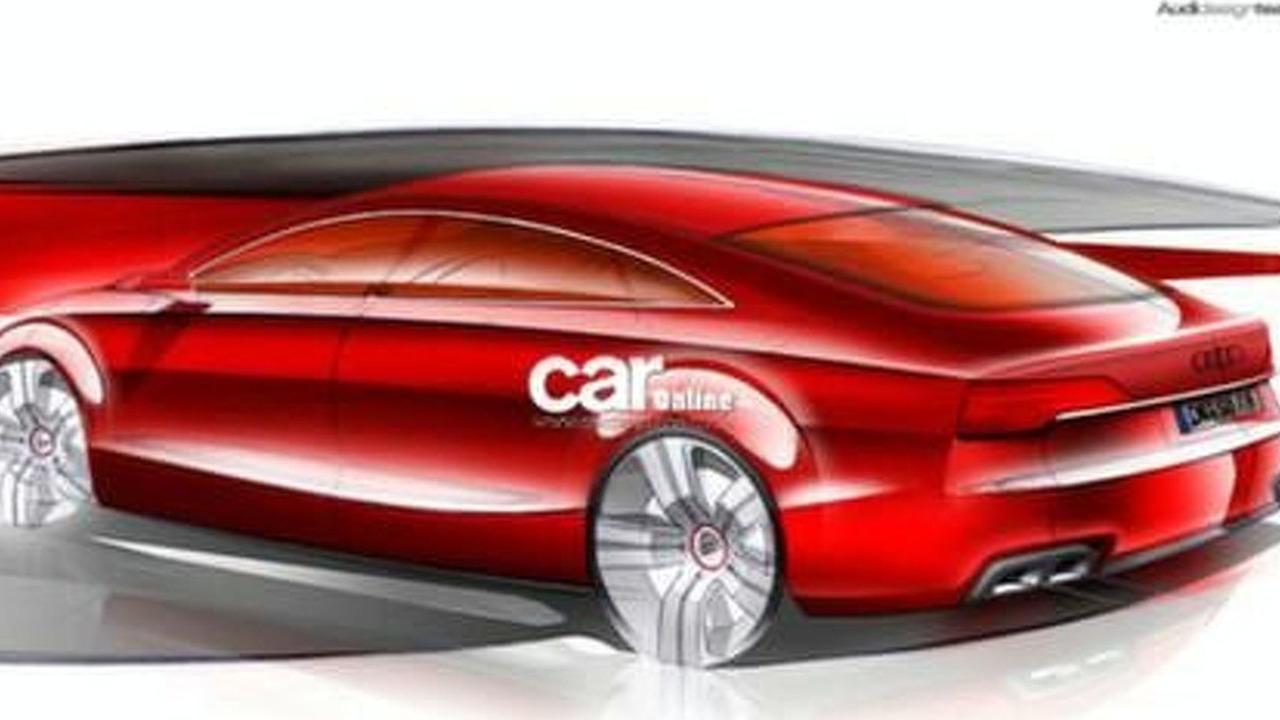 Official Audi A7 Design Sketch