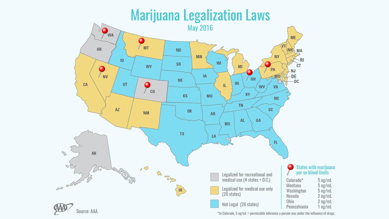 Marijuana legalization map