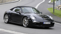 2013 Porsche 911 Targa spied with a retro roll bar
