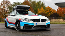 700-hp BMW M4 aspires to be GT4 race car with a roof box