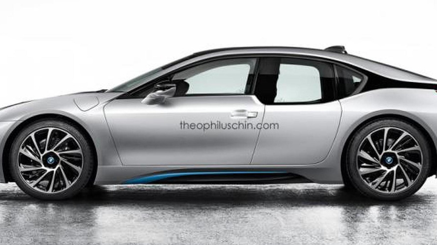 BMW i8 imagined as a sedan by Theophilus Chin