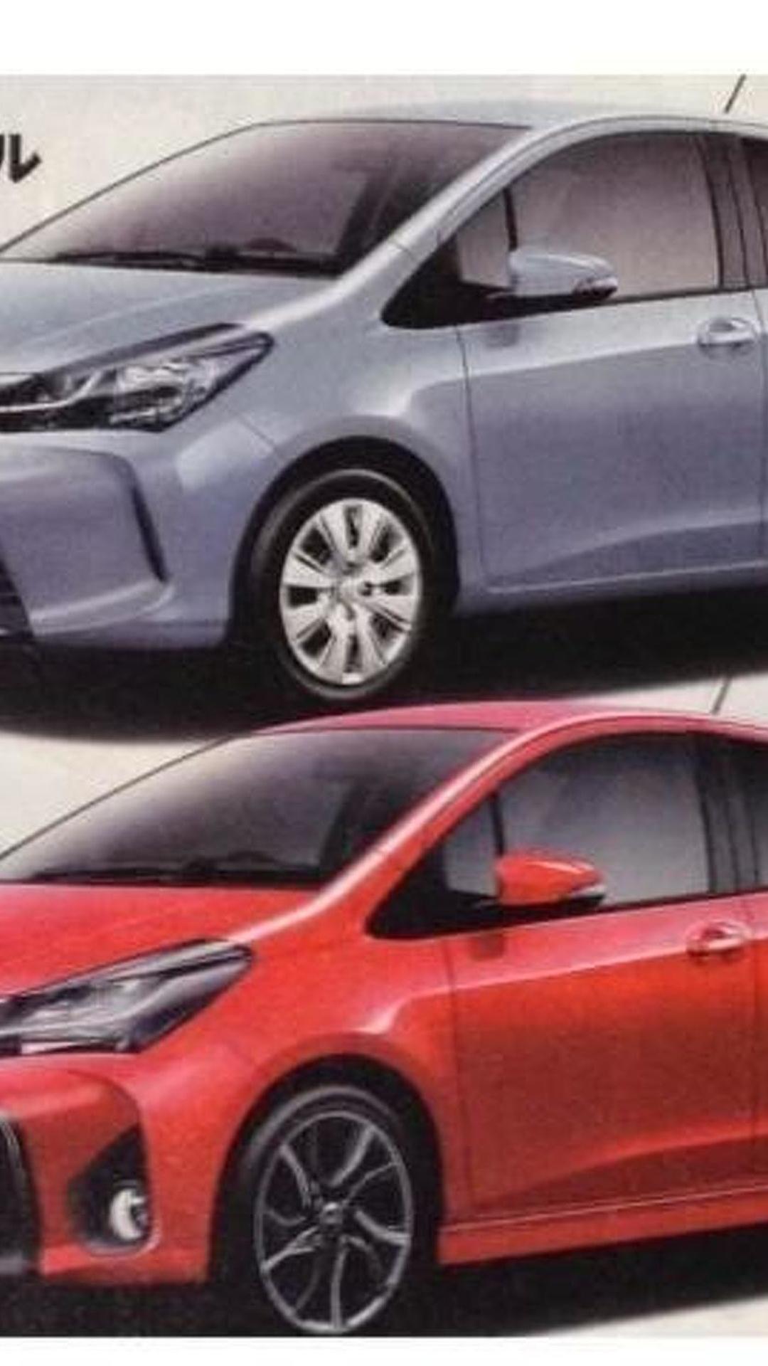 Toyota Vitz/Yaris facelift leaked in brochure scans