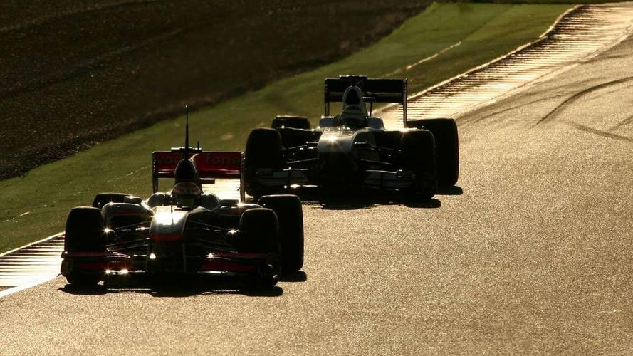 Four drivers beat Webber's Thursday best before lunch