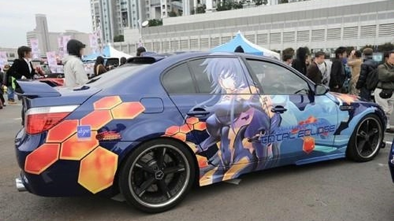 Lamborghini turned into manga car