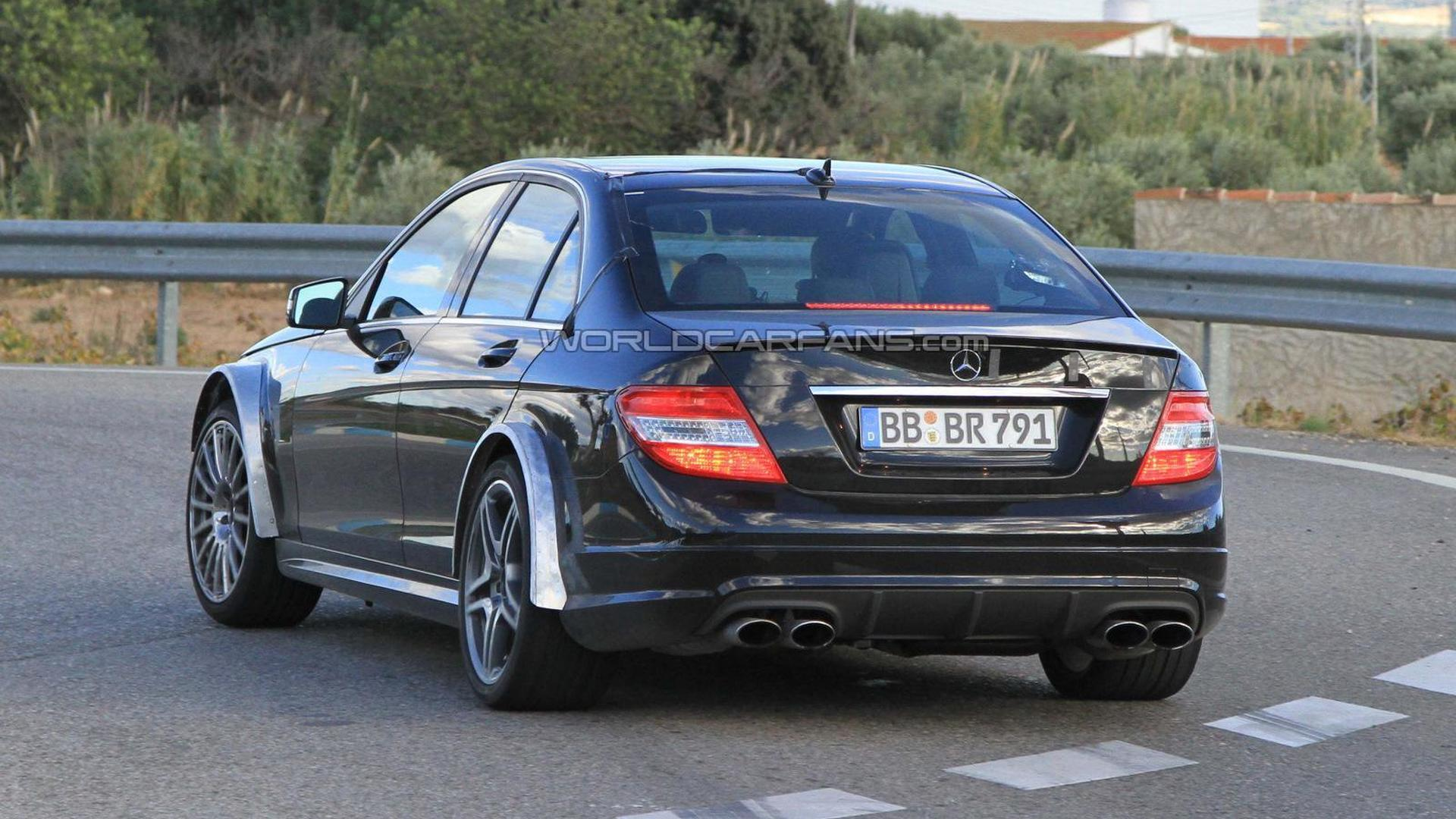 2012 Mercedes C-Class Black Series spied