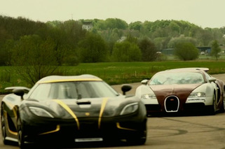 Bugatti and Koenigsegg in the Battle of Great vs. Slightly Greater [video]