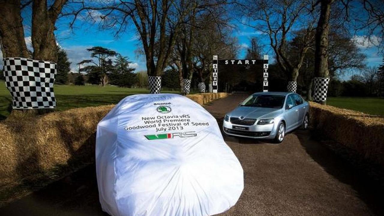 2013 Skoda Octavia RS teaser photo