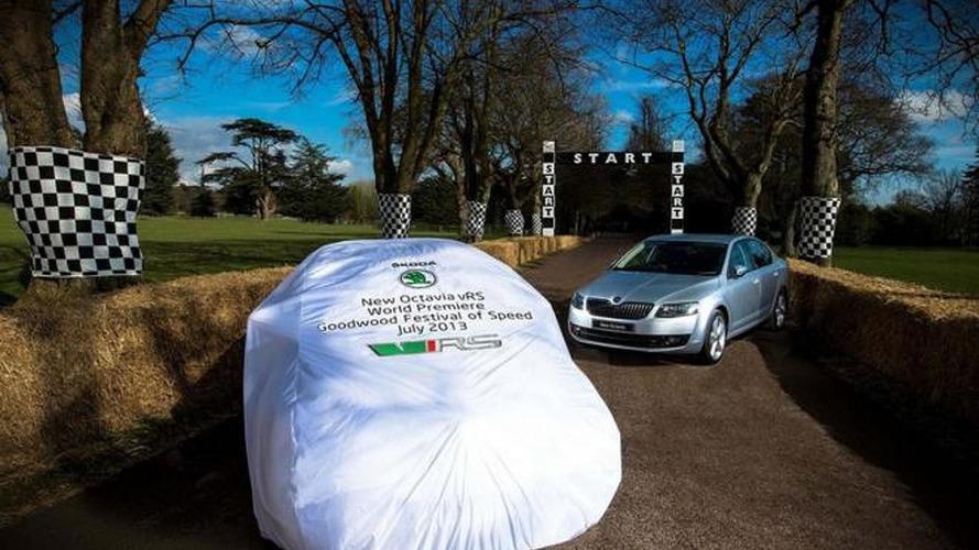 2013 Skoda Octavia vRS teased ahead of Goodwood arrival in July