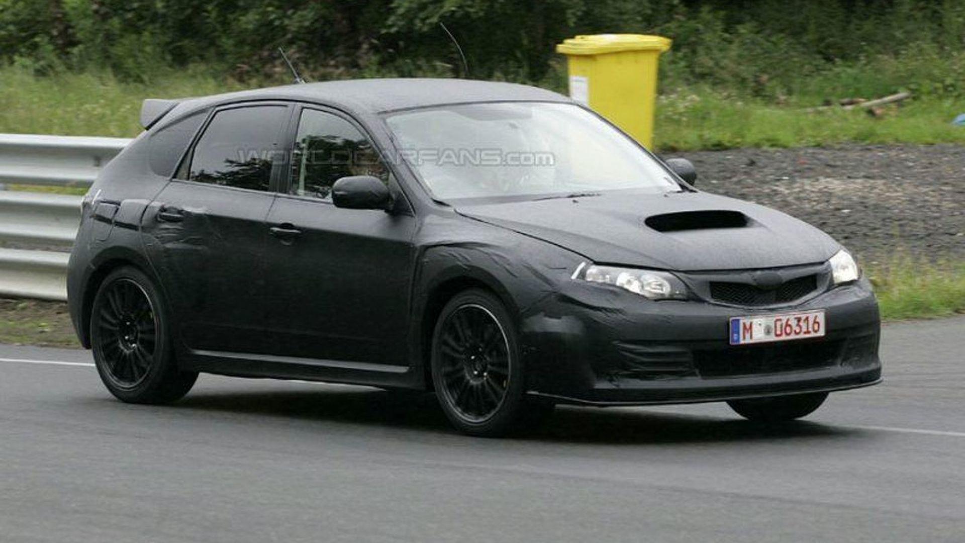 Subaru Impreza Wrx Sti Hatchback Spy Photos