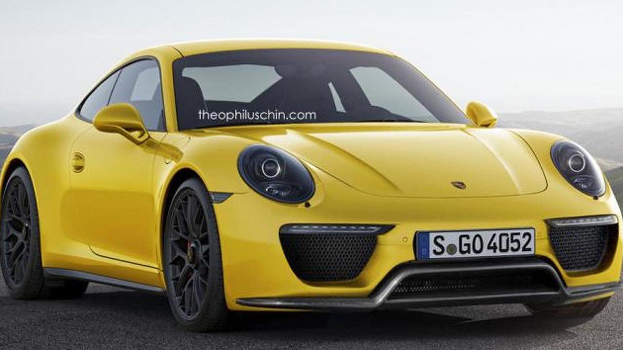 Porsche 911 facelift rendering / Theophilus Chin