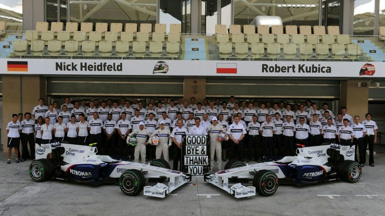 BMW F1 Sauber Team say farewell, Friday, 30.10.2009 Abu Dhabi grand prix, Yas Island Marina Circuit, United Arab Emirates