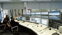 Berlin driving simulator control room