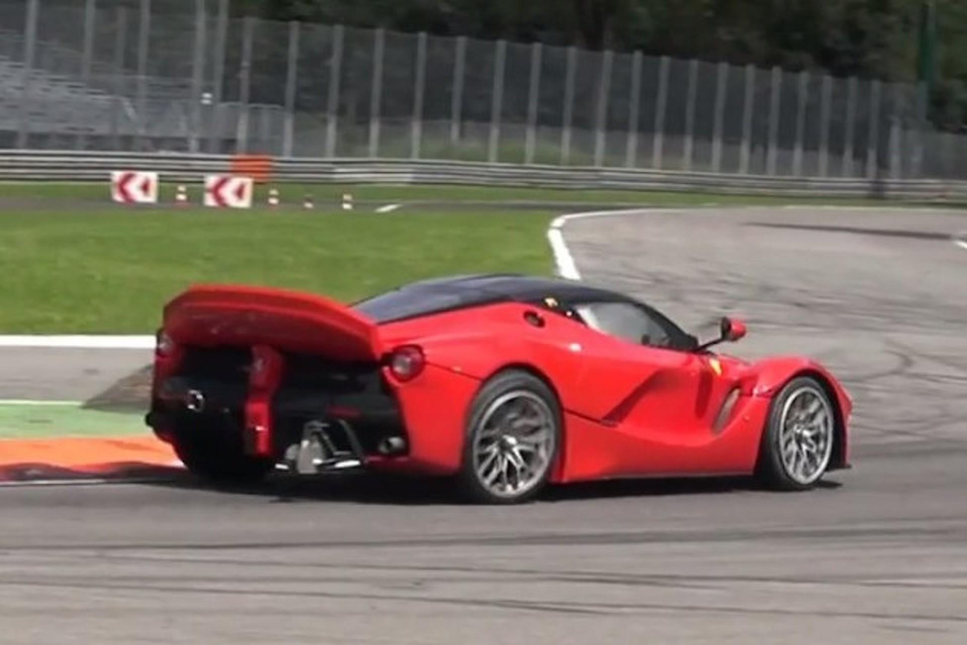 LaFerrari XX Thrashed So Hard It Nearly Loses A Wheel [Video]