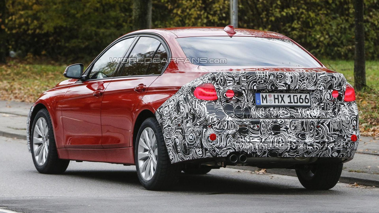 2015 / 2016 BMW 3-Series facelift spy photo
