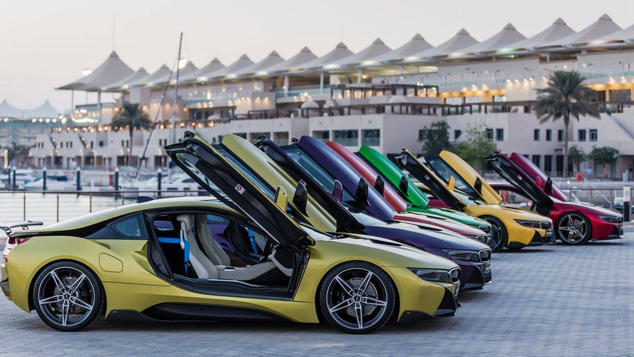 Colourful BMW i8s return in extensive gallery (67 photos)