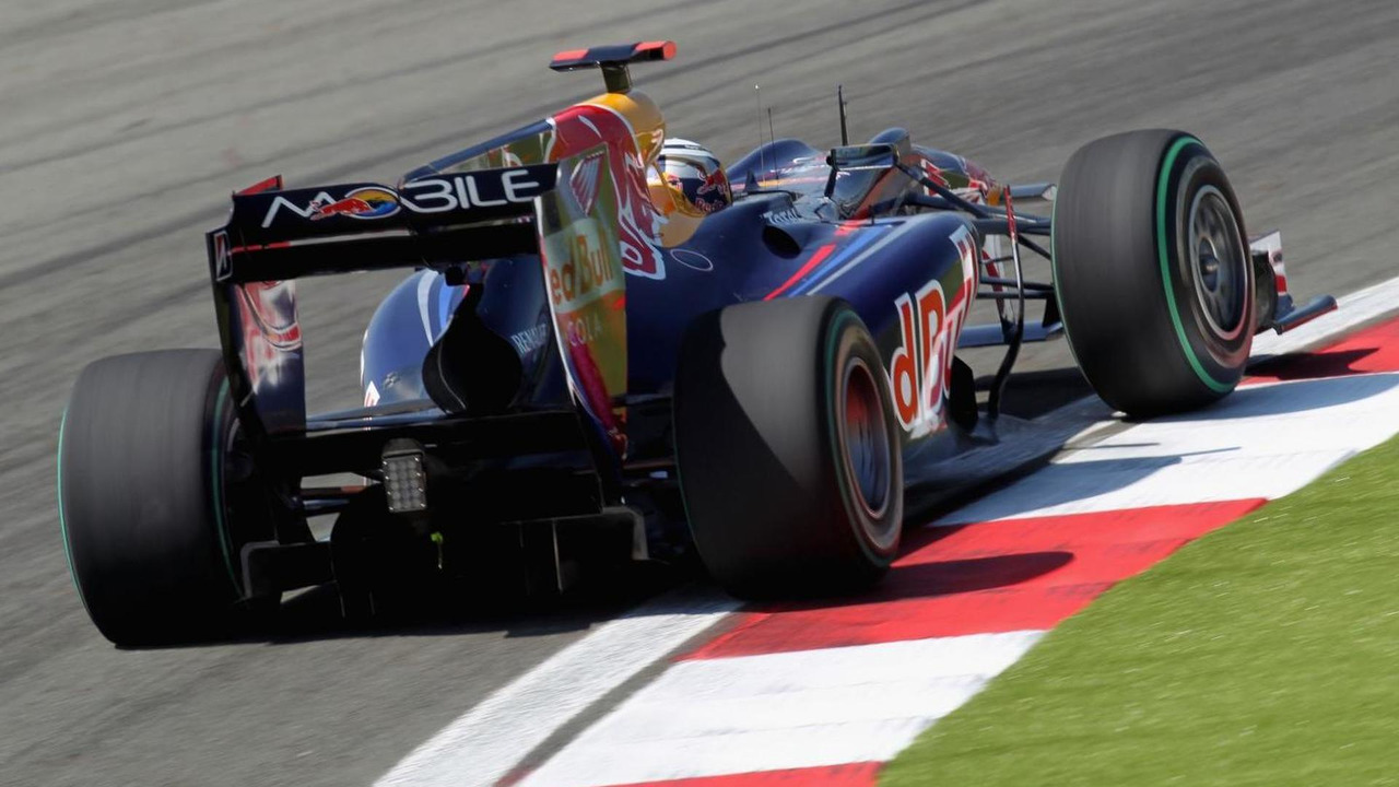 Sebastian Vettel of Germany and Red Bull Racing drives during practice for the Turkish Formula One Grand Prix at Istanbul Park on May 28, 2010, in Istanbul, Turkey