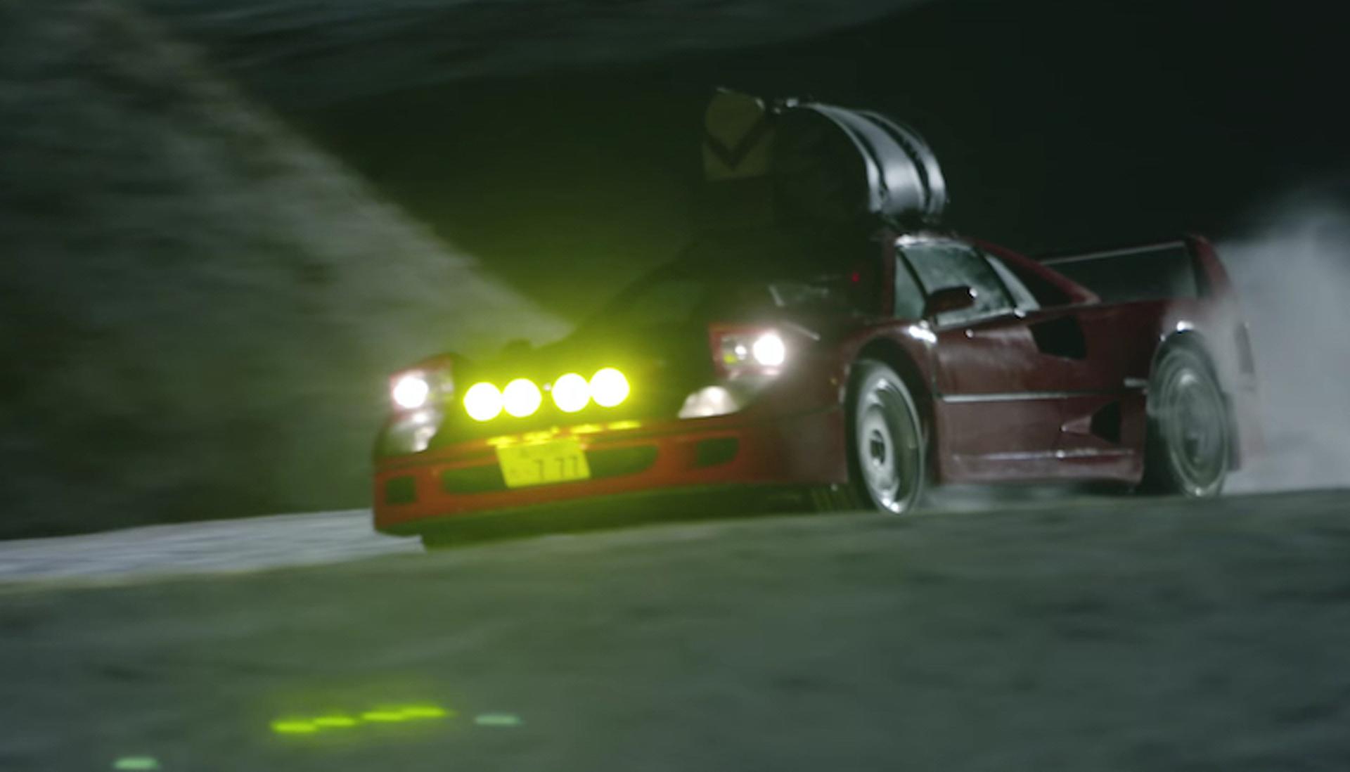 Watch A Ferrari F40 Drift Up A Japanese Ski Resort