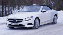 Mercedes-Benz S-Class Cabriolet spied thinly disguised