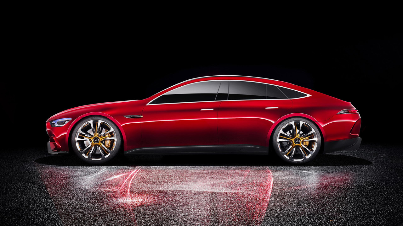 Mercedes amg gt concept revealed a four for Mercedes benz eq release date